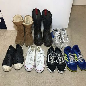 Lot of seven youth size 3 shoes variety